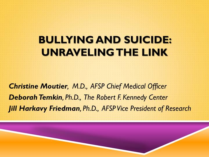 bullying and suicide unraveling the link n.