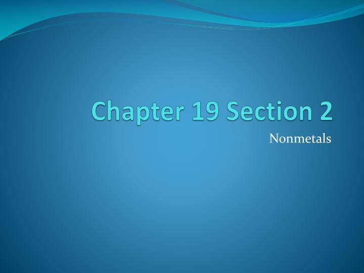 chapter 19 section 2 n.