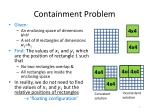 containment problem
