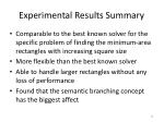 experimental results summary
