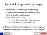 social skills improve body image