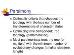 parsimony1