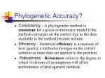 phylogenetic accuracy