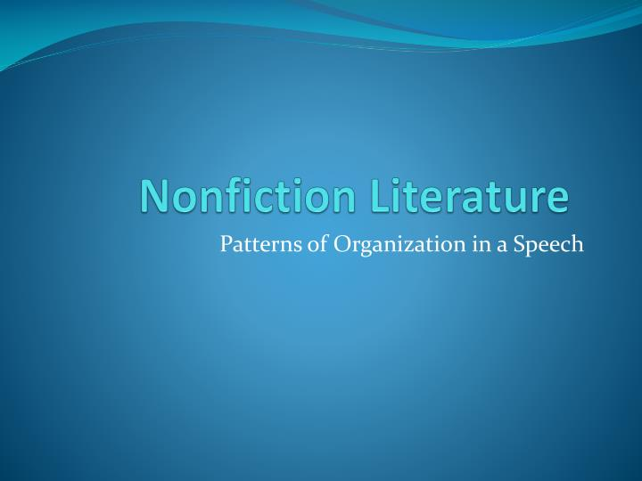 nonfiction literature n.