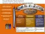visual studio team system gestion du cycle de vie logiciel alm