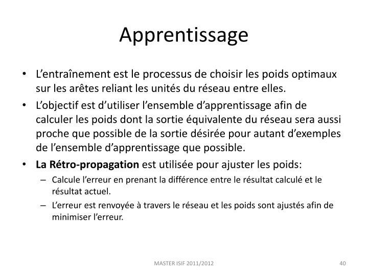 Apprentissage