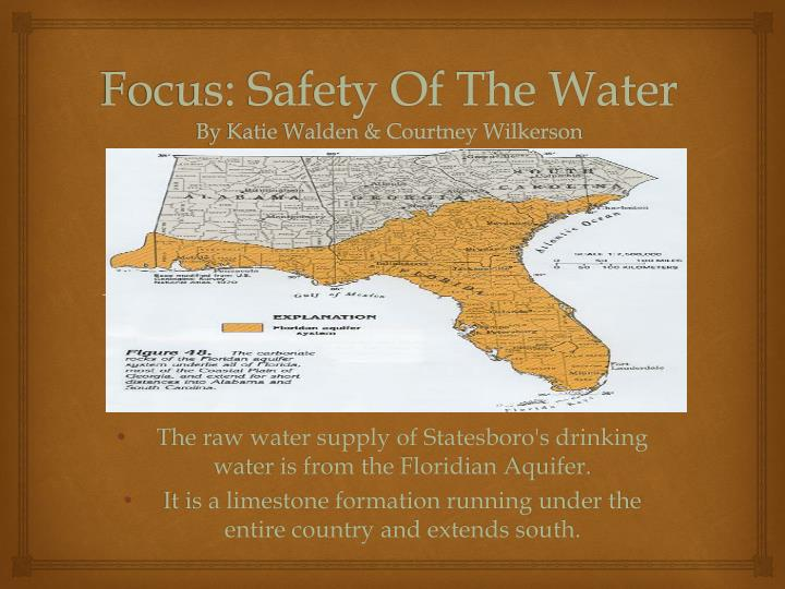 focus safety of the water by katie walden courtney wilkerson n.