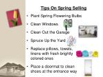 tips on spring selling