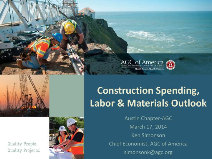 construction spending labor materials outlook n.