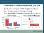 construction vs overall un employment 2 11 2 14