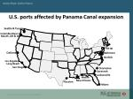 u s ports affected by panama canal expansion