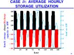 case d average hourly storage utilization