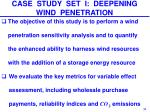 case study set i deepening wind penetration