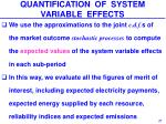 quantification of system variable effects