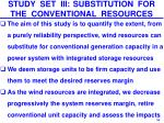 study set iii substitution for the conventional resources