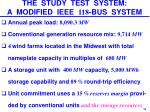 the study test system a modified ieee 118 bus system