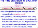 the time dimension in simulation studies