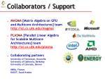 collaborators support