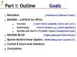 part i outline goals
