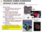simulation enables fundamental advances in basic science