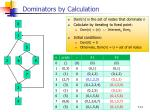 dominators by calculation