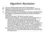 algorithm resolution