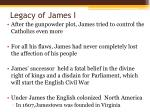 legacy of james i