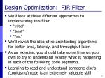 design optimization fir filter1