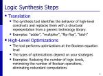 logic synthesis steps