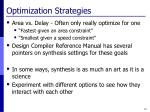 optimization strategies