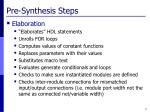 pre synthesis steps1