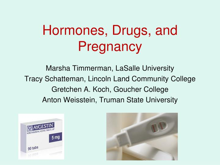 hormones drugs and pregnancy n.