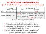 alenex 2014 implementation m sc thesis morten kragelund holt and jens johansen