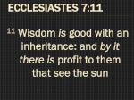 ecclesiastes 7 11