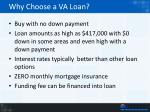 why choose a va loan