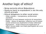 another logic of ethics