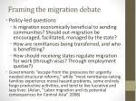 framing the migration debate