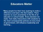 educators matter