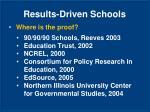 results driven schools