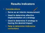 results indicators