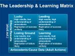the leadership learning matrix