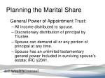planning the marital share2