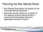 planning the non marital share