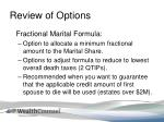 review of options