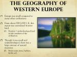 the geography of western europe