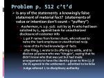 problem p 512 c t d