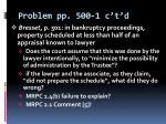 problem pp 500 1 c t d