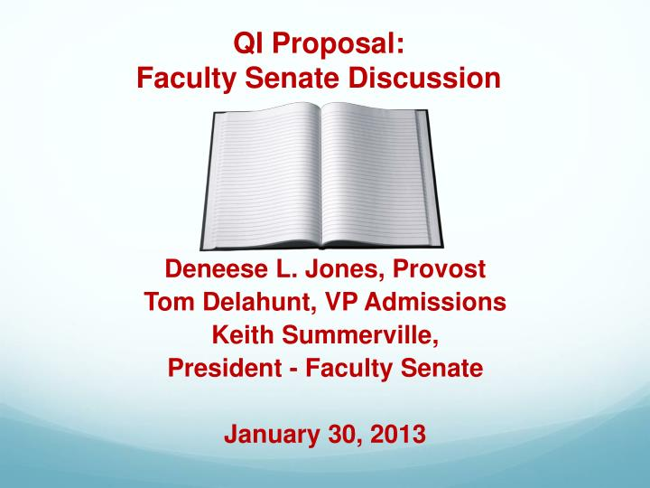 qi proposal faculty senate discussion n.