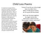 child loss poems