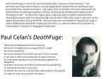 paul celan s deathfuge